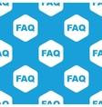 Faq hexagon pattern vector