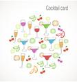 Cocktail card vector
