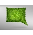 Speech bubble natyre with grass vector