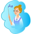 Teacher profession on blue background vector
