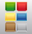 Empty colorful bookshelf vector