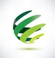 Sphere ribbon green vector