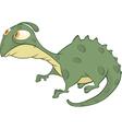 Little green lizard cartoon vector