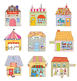 Houses of the funny town set - companies and vector