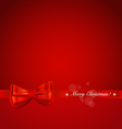 Christmas background shiny ribbon on red vector
