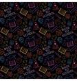 Neon seamless pattern shcool vector