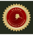 Star label alaska vector