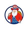 American father christmas santa claus vector