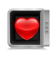 Heart in safe vector