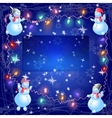 The christmas snowmen hang out the bulb vector