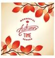 Autumn card design vector