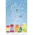 Christmas and new year holidays card vector