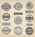 0012 commercial stamps set vector