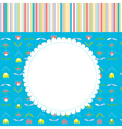 Greeting card for baby or child with pattern vector