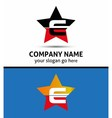 Alphabetical logo design concepts letter e vector