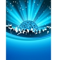 Party poster with disco ball eps 8 vector