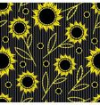 Seamless dark striped background with abstract sun vector