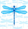 Dragonfly seamless pattern vector