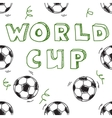 Seamless pattern with text world cup vector