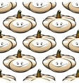 Funny cartoon pumpkin seamless pattern vector