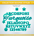 Turquoise graphic style for design vector