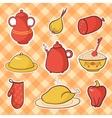 Kitchen food vector