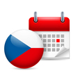 Icon of national day in czech republic vector