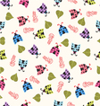 Cute background with ladybugs vector