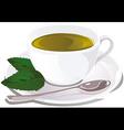 Cup of mint tea vector