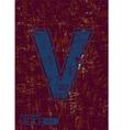 Alphabet v vector