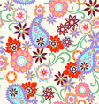 Abstract paisley seamless background vector