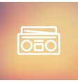 Radio cassette player thin line icon vector