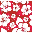 Seamless pattern with hawaiian hibiscus flower vector
