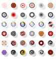 Design elements set with rotation vector