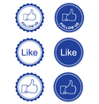 Like it follow retro labels vector