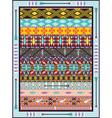 Seamless colorful geometric tribal vector