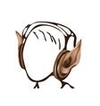 Headphones as elf ears vector