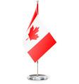 Canadian flag on flagstaff vector