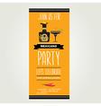 Invitation mexican partytypography vector