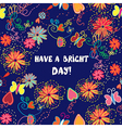 Greeting card - have a nice day vector