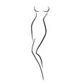 Abstract female body contour vector