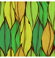 Seamless green hand drawn floral pattern vector