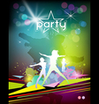 Silhouette woman colorful party design vector