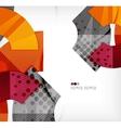 Modern futuristic techno abstract composition vector