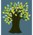 Oak tree with leaves - funny design vector