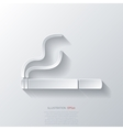 Smoking sign cigarette icon vector