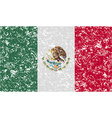Flag of mexico with old texture vector