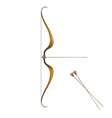 Vintage bow and arrows vector