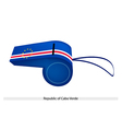Blue white and red stripe on cabo verde whistle vector
