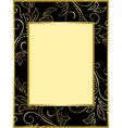 Black and gold card with floral background vector